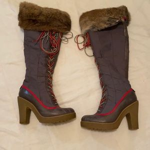 Vintage rudsak thigh high boot